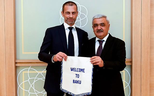 Rövnəq Abdullayev və UEFA prezidentləri görüşdü