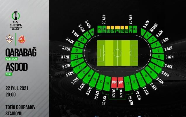 """""""Qarabağ"""" – """"Aşdod"""" oyununun biletləri satışa çıxarılır"""